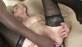 Granny fucked hard in ass by black she gets creampie.