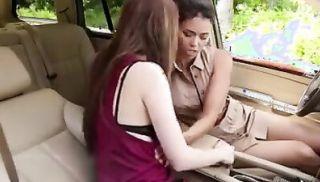 Lesbian Car Fun