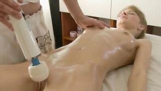 Massage girl looks like a super model when she fucks