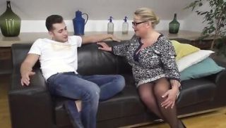 Busty german mature woman fucks her younger lover