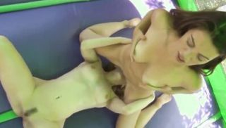 Lesbian babe pussy toyed while licked closeup