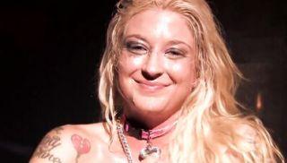 Disco slut Leya gets an anal pounding and creampie