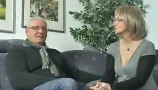 Husband shares his mature german wife