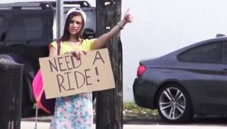 MOFOS - Real hitchhiking amateur pays the free ride with bj