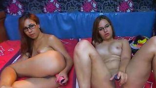 Deep lesbian amateur fisting on webcam