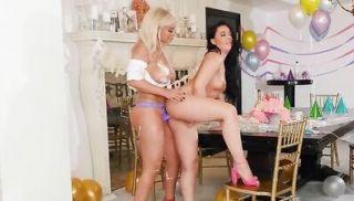 Hot lesbian Bday girl anal fucked