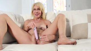 Hot MILF Erica Lauren Red Bra Pink DIldo