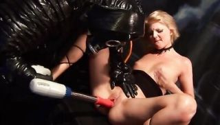 Two blondes, a machine and the gimp