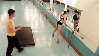 BJ and fuck in the ballet studio!