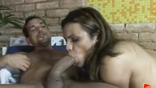 Hot Trans Nicole Uses Her Huge Hard-on