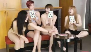 LOSTBETSGAMES - 4 Nerdy Chicks Expose their Naughty Side during a Game o...
